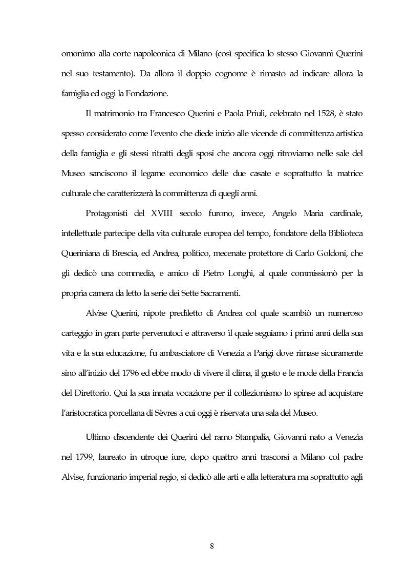 Anteprima della tesi: Il Museo Querini Stampalia da galleria patrizia a macchina della memoria. Appunti per una storia, 1869- 2004, Pagina 8