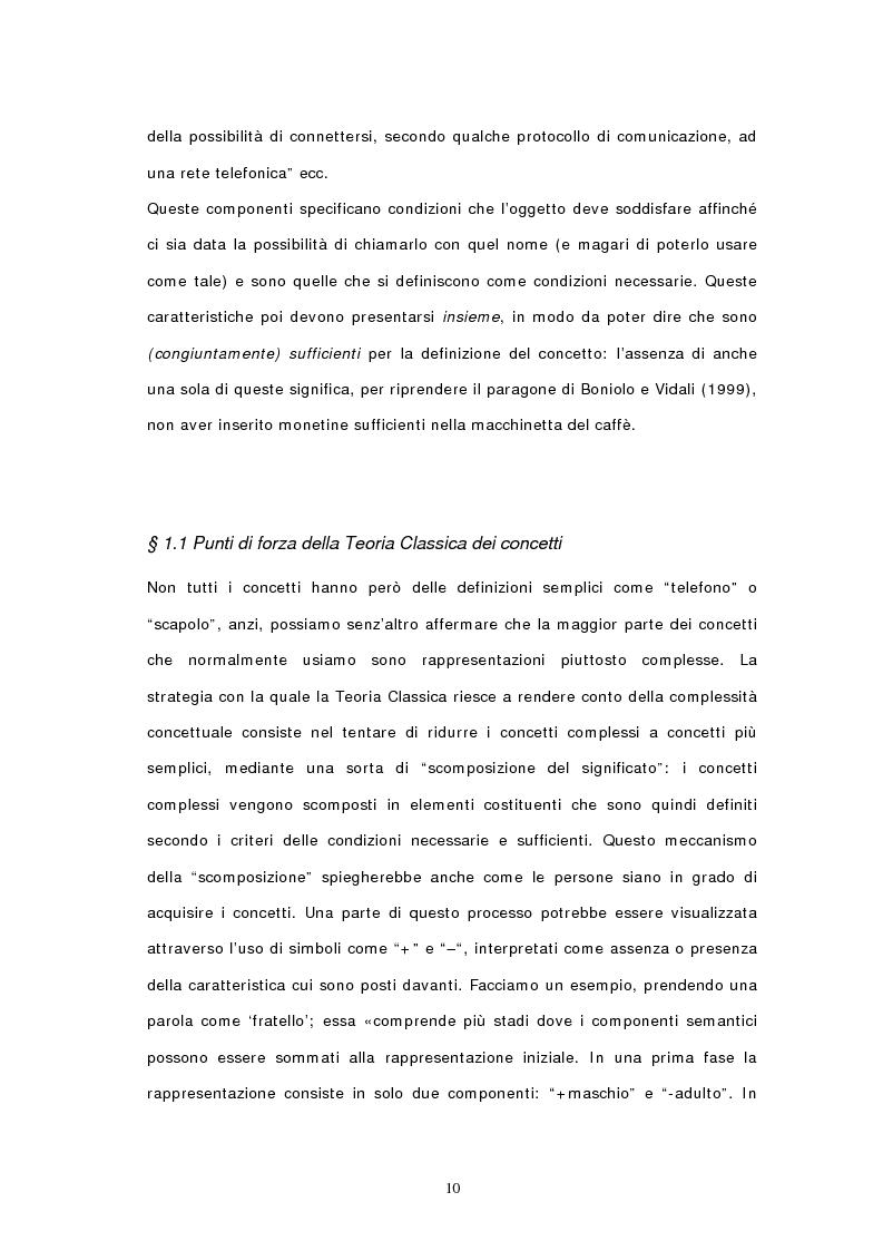 Anteprima della tesi: Concetti, similarità e teoria: verso il modello ibrido, Pagina 8