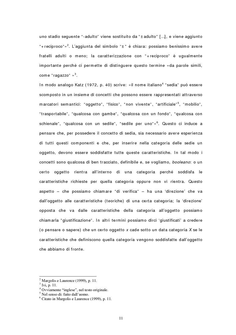 Anteprima della tesi: Concetti, similarità e teoria: verso il modello ibrido, Pagina 9