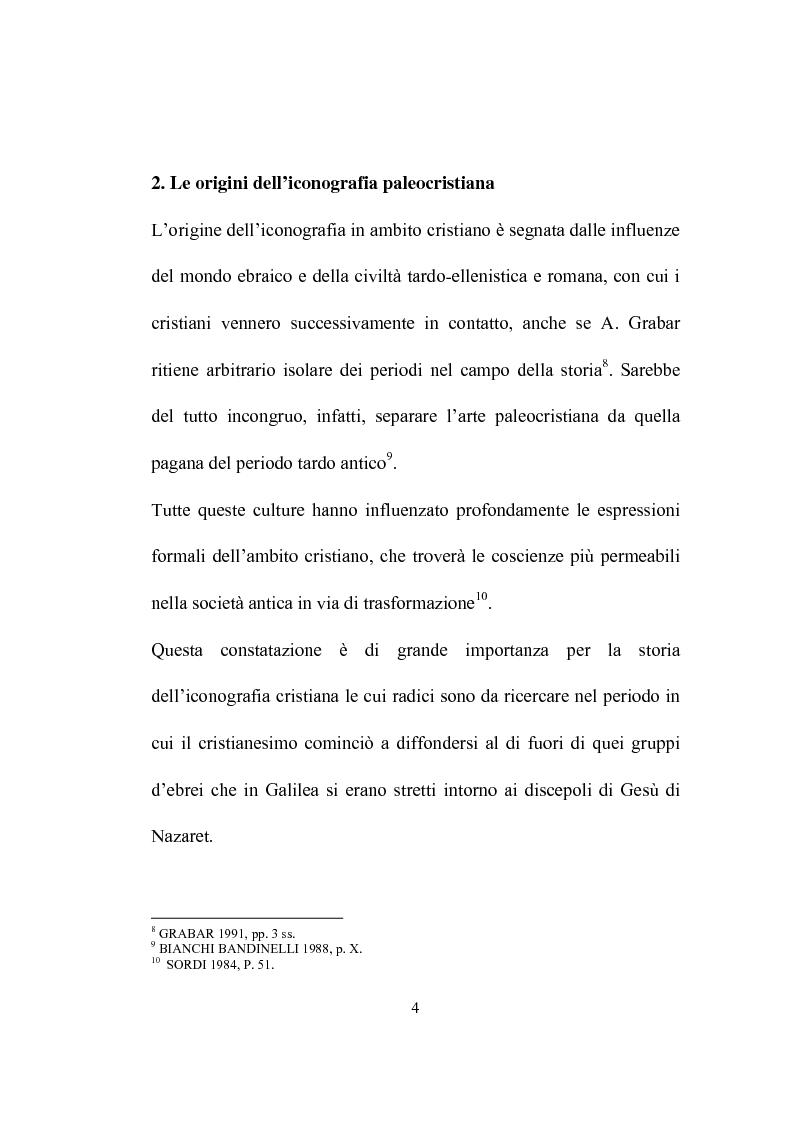 Anteprima della tesi: I programmi iconografici nell'arte cristiana dal tardo antico all'alto medioevo, Pagina 4