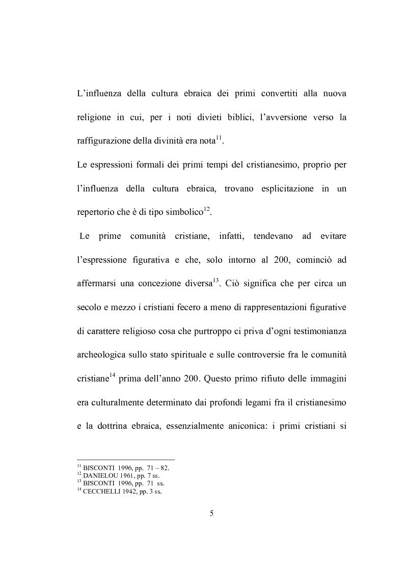 Anteprima della tesi: I programmi iconografici nell'arte cristiana dal tardo antico all'alto medioevo, Pagina 5