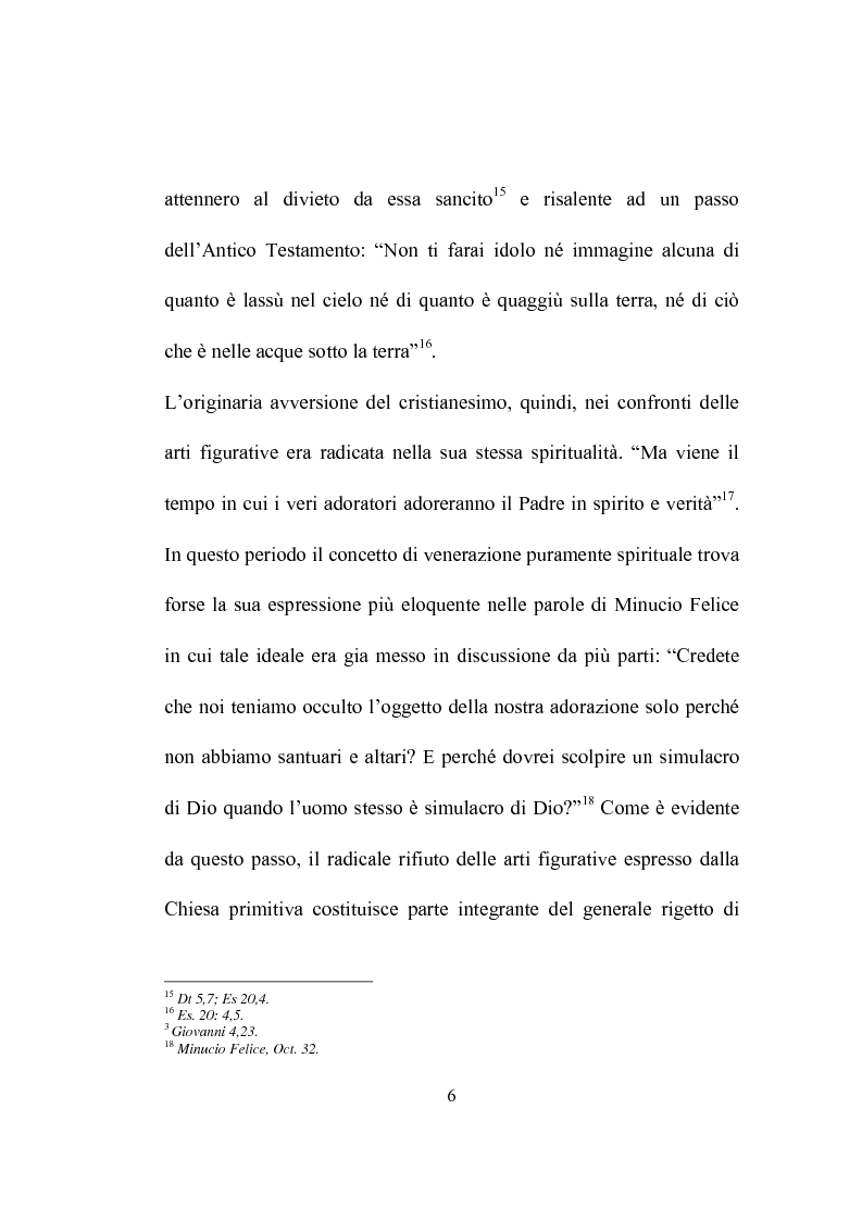 Anteprima della tesi: I programmi iconografici nell'arte cristiana dal tardo antico all'alto medioevo, Pagina 6