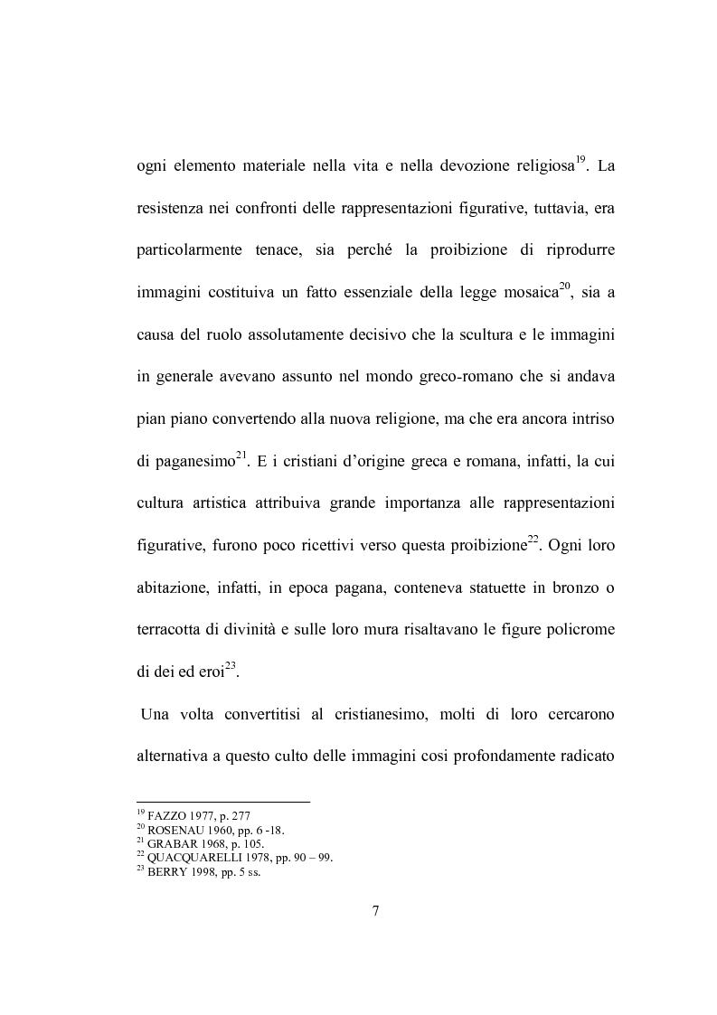 Anteprima della tesi: I programmi iconografici nell'arte cristiana dal tardo antico all'alto medioevo, Pagina 7