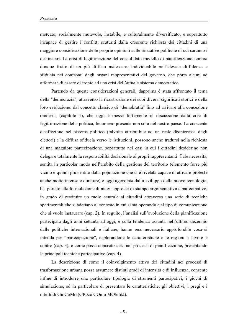 Anteprima della tesi: La pianificazione partecipativa: teorie e tecniche. Un esempio di integrazione di diversi strumenti: GioCoMo., Pagina 2