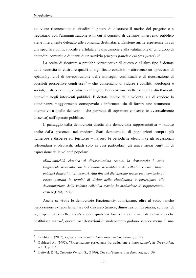 Anteprima della tesi: La pianificazione partecipativa: teorie e tecniche. Un esempio di integrazione di diversi strumenti: GioCoMo., Pagina 4
