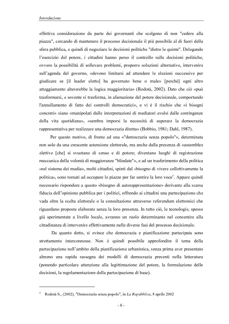 Anteprima della tesi: La pianificazione partecipativa: teorie e tecniche. Un esempio di integrazione di diversi strumenti: GioCoMo., Pagina 5