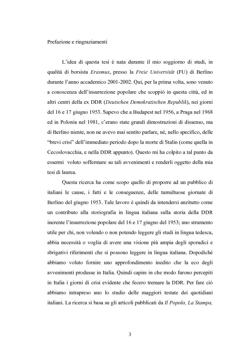 Anteprima della tesi: 16 - 17 giugno 1953: la rivolta operaia di Berlino-Est, Pagina 1