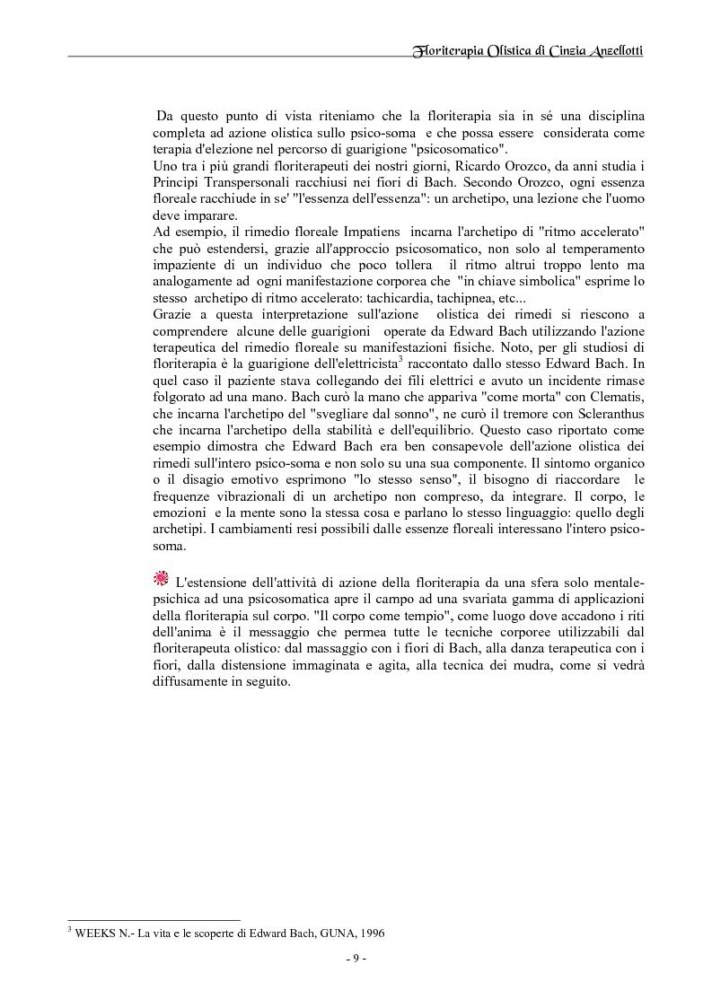 Anteprima della tesi: Floriterapia Olistica- I fiori di Bach per il naturopata RIZA, Pagina 5