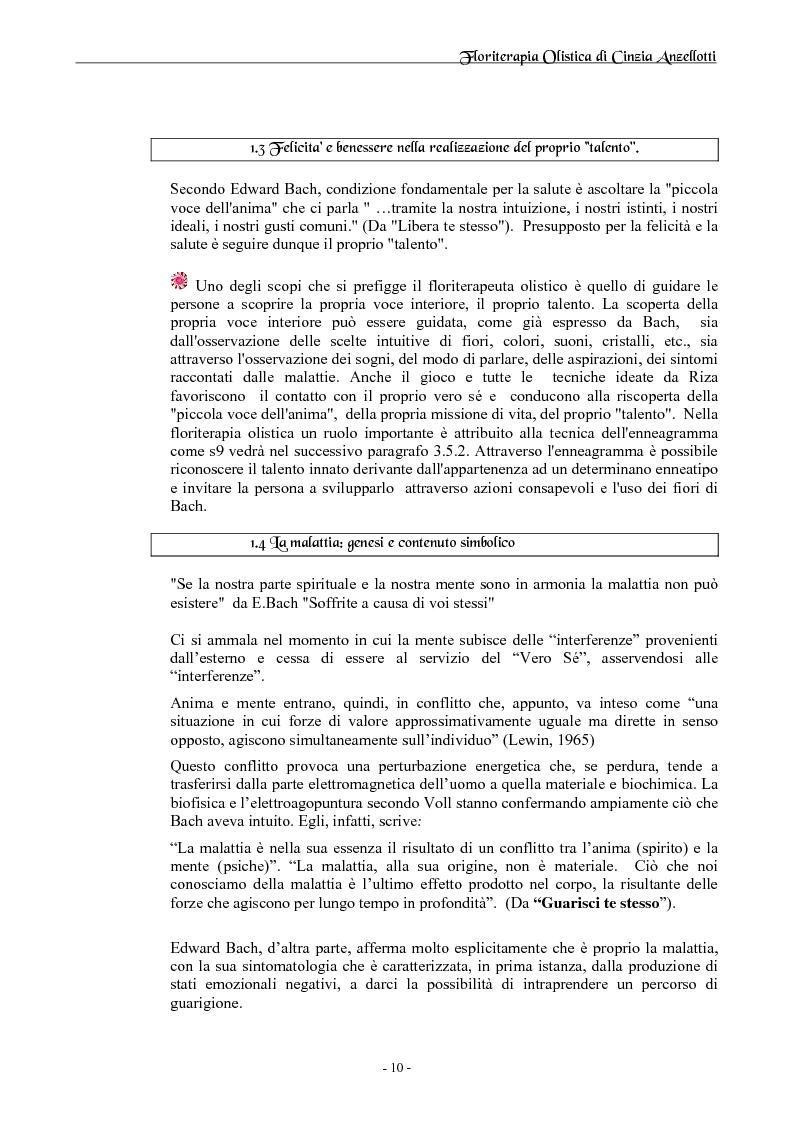 Anteprima della tesi: Floriterapia Olistica- I fiori di Bach per il naturopata RIZA, Pagina 6
