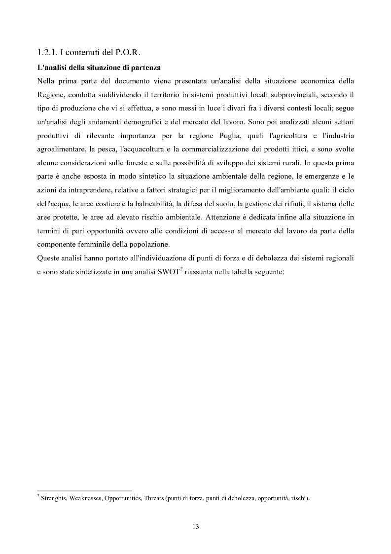 Anteprima della tesi: La ''montagna del sole'': proposte per la destagionalizzazione e la valorizzazione turistica del promontorio del gargano, Pagina 13