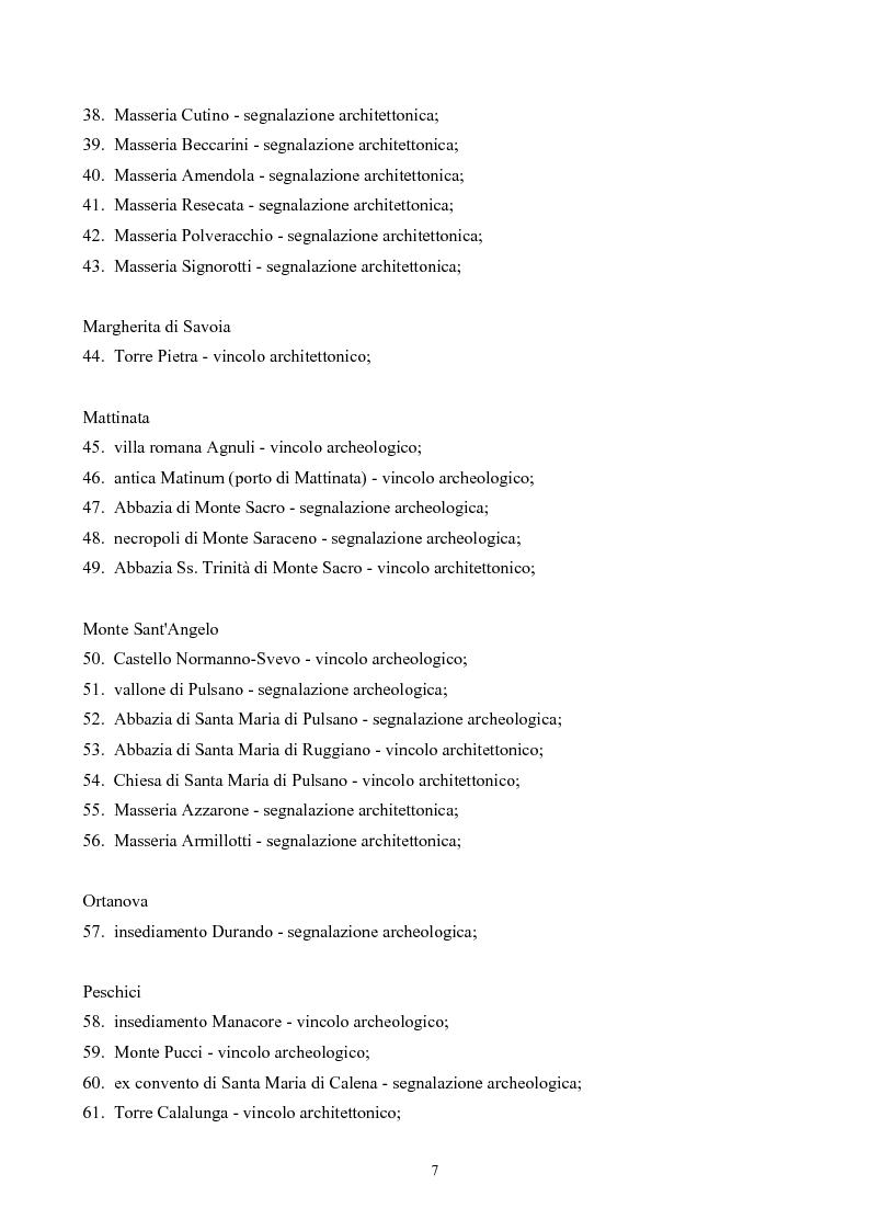 Anteprima della tesi: La ''montagna del sole'': proposte per la destagionalizzazione e la valorizzazione turistica del promontorio del gargano, Pagina 7