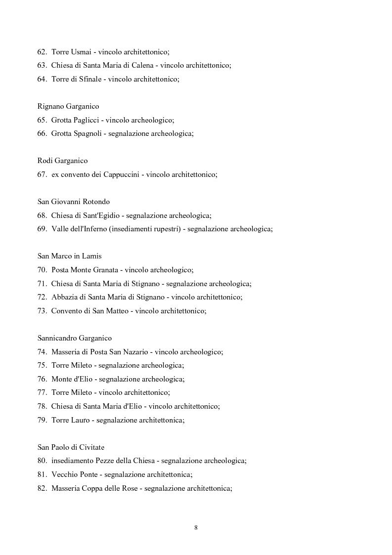 Anteprima della tesi: La ''montagna del sole'': proposte per la destagionalizzazione e la valorizzazione turistica del promontorio del gargano, Pagina 8