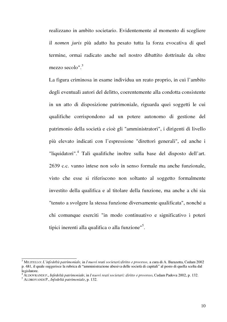 Anteprima della tesi: Le fattispecie di Infedeltà, Pagina 10