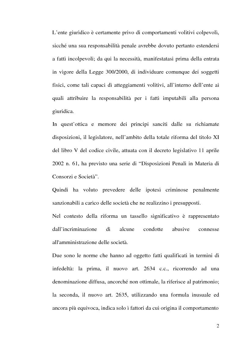 Anteprima della tesi: Le fattispecie di Infedeltà, Pagina 2