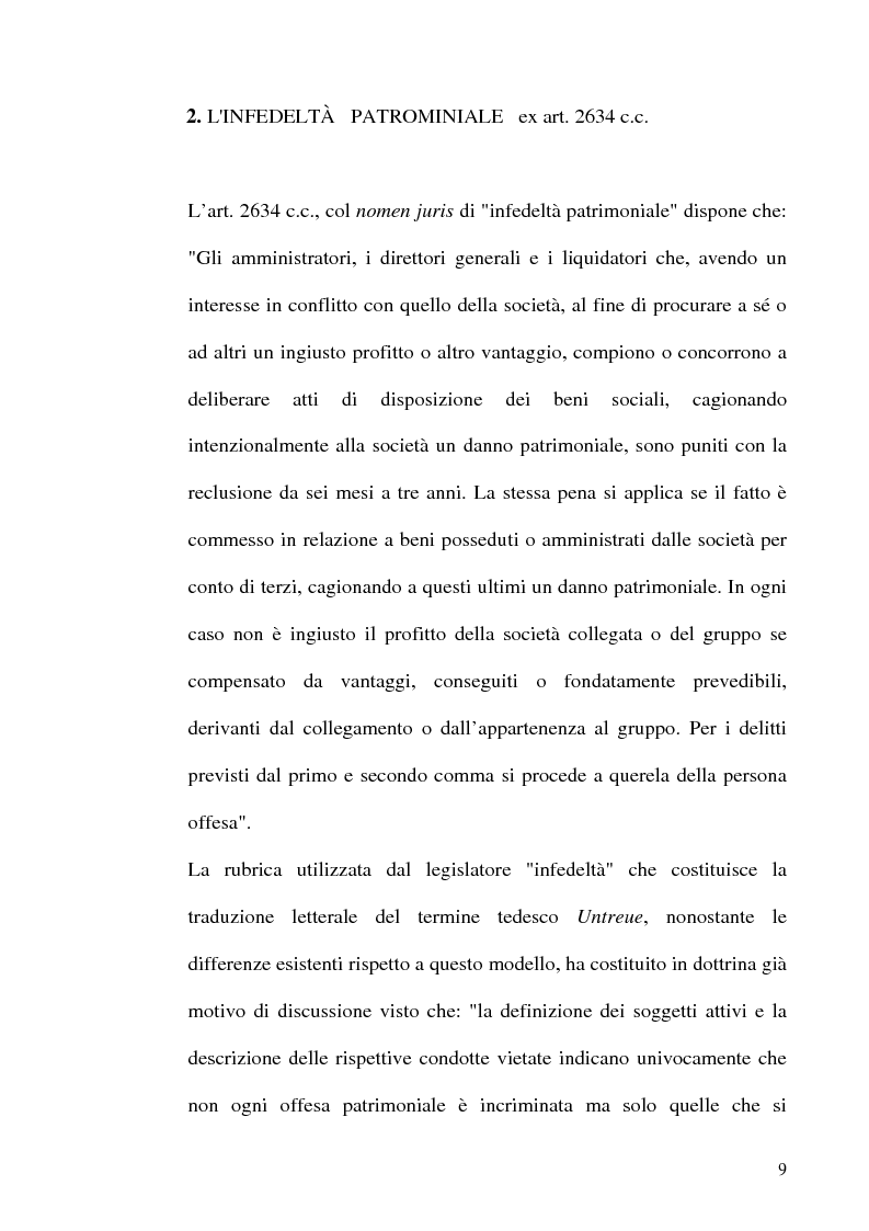 Anteprima della tesi: Le fattispecie di Infedeltà, Pagina 9