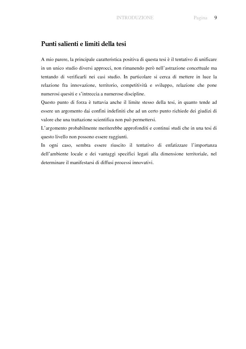 Anteprima della tesi: Innovazione e sviluppo locale: esperienze a confronto, Pagina 5
