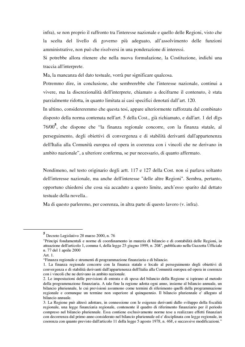 Anteprima della tesi: Il Diritto del Lavoro nel nuovo art.117 della Costituzione, Pagina 5