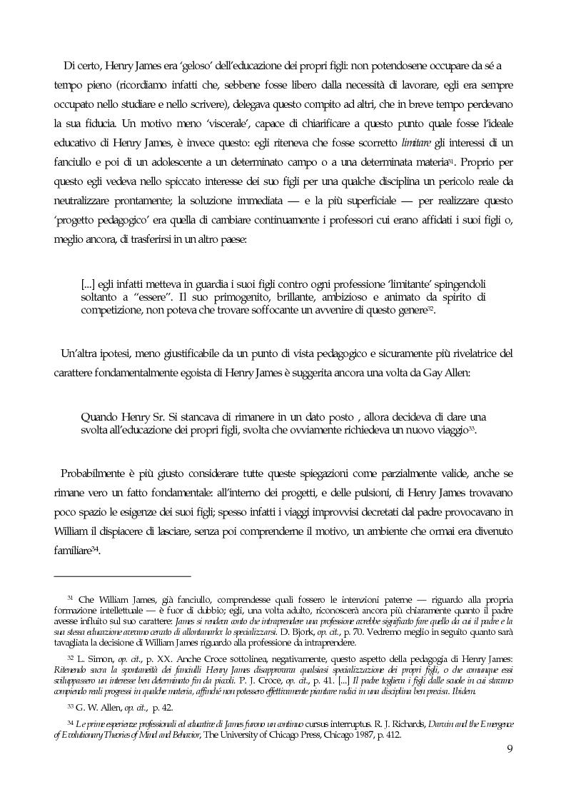 Anteprima della tesi: William James, filosofo della libertà, Pagina 11