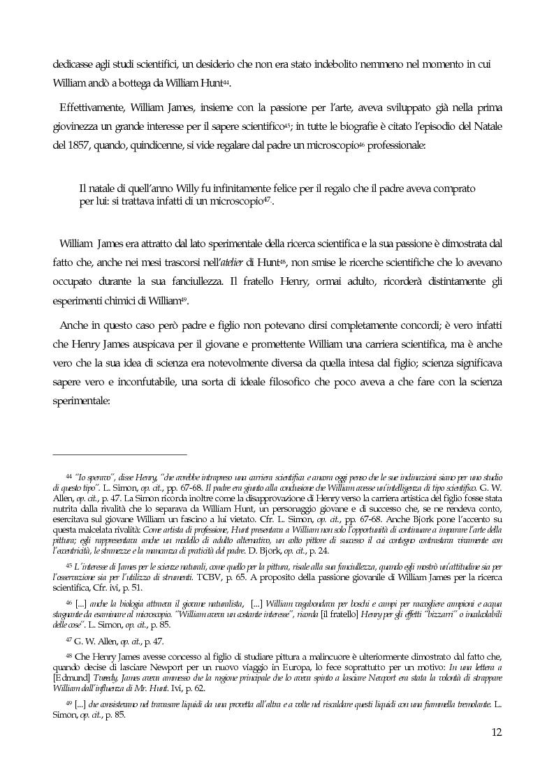 Anteprima della tesi: William James, filosofo della libertà, Pagina 14