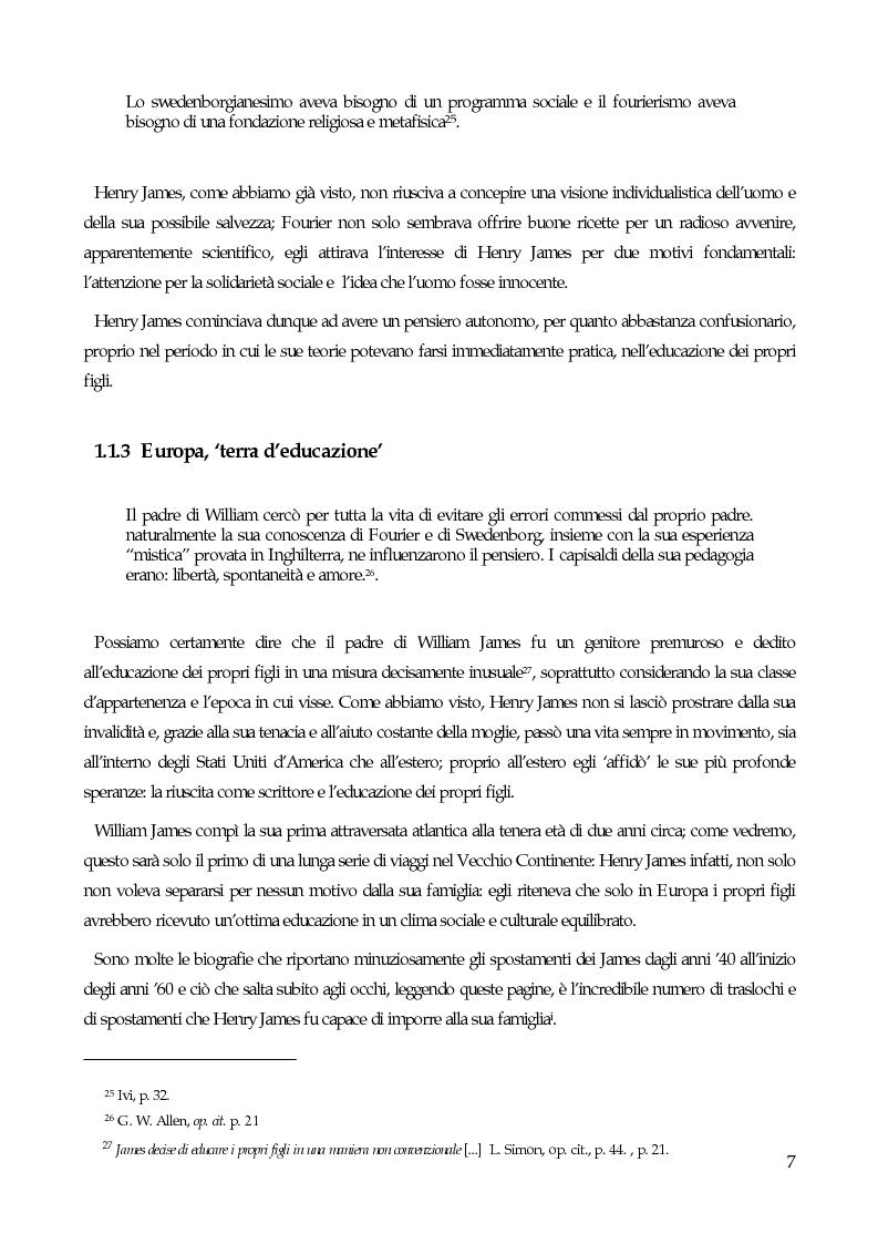 Anteprima della tesi: William James, filosofo della libertà, Pagina 9