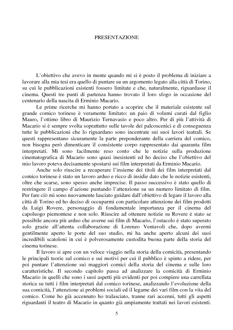 Erminio Macario - i film prodotti da Luigi Rovere - Tesi di Laurea