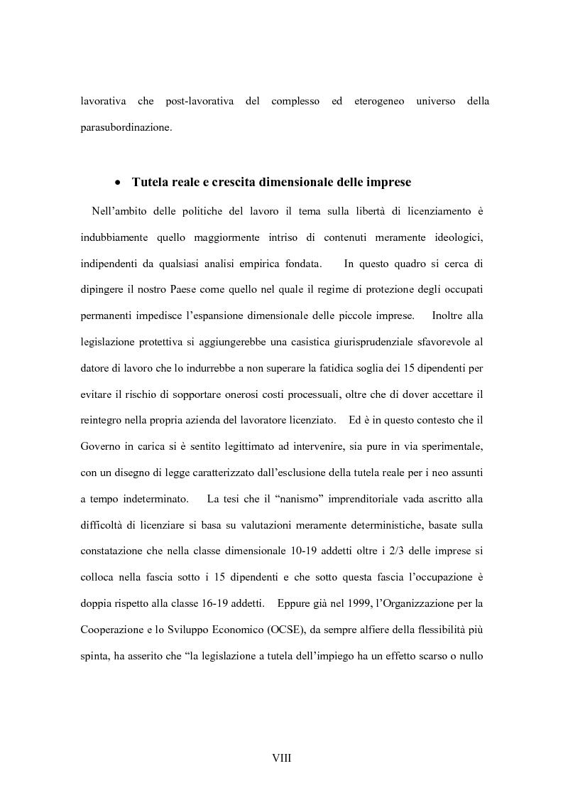 Anteprima della tesi: La flessibilità del mercato del lavoro italiano. Profili giuridici ed effetti socio-economici., Pagina 8