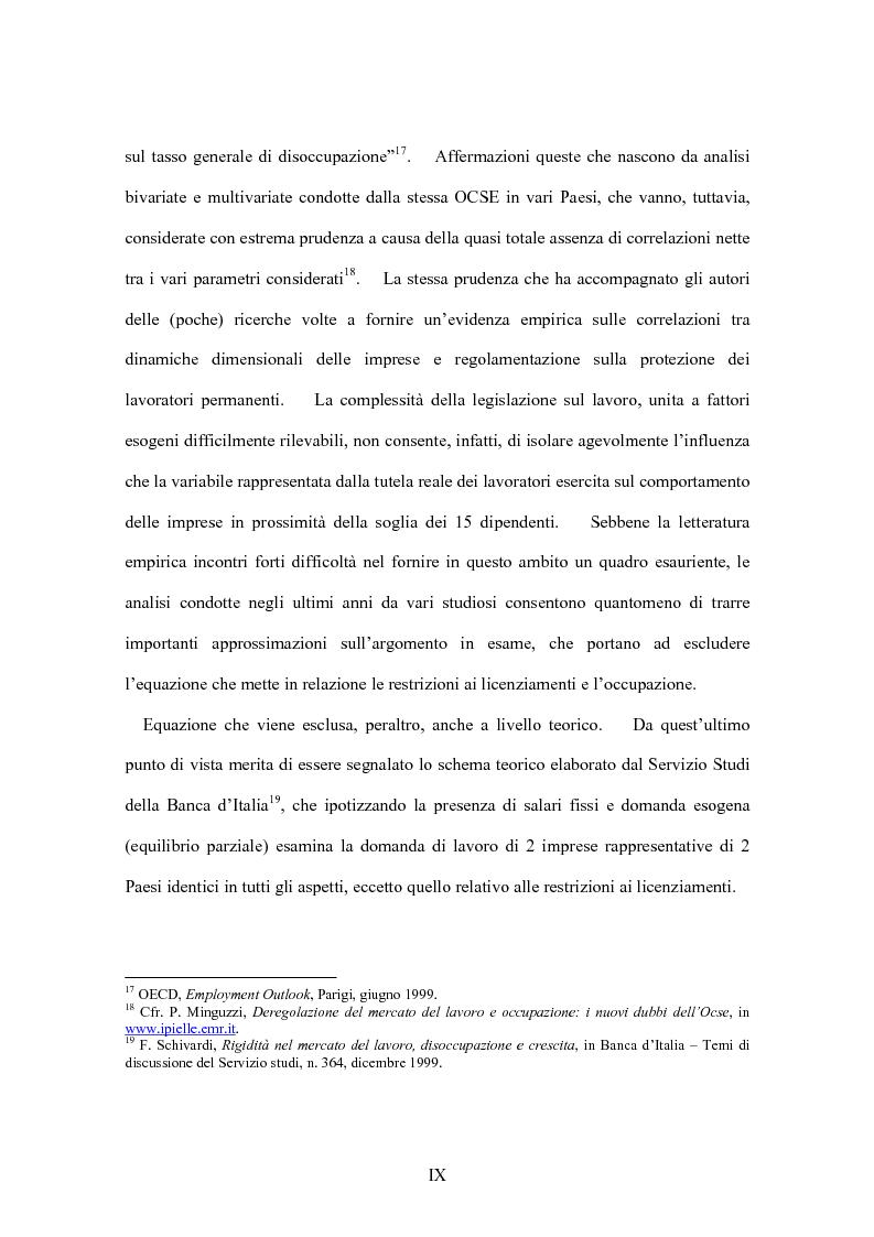 Anteprima della tesi: La flessibilità del mercato del lavoro italiano. Profili giuridici ed effetti socio-economici., Pagina 9