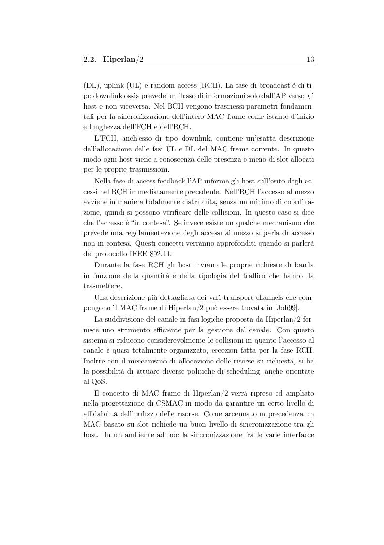 Anteprima della tesi: Un protocollo MAC multicanale per reti wireless ad-hoc, Pagina 11