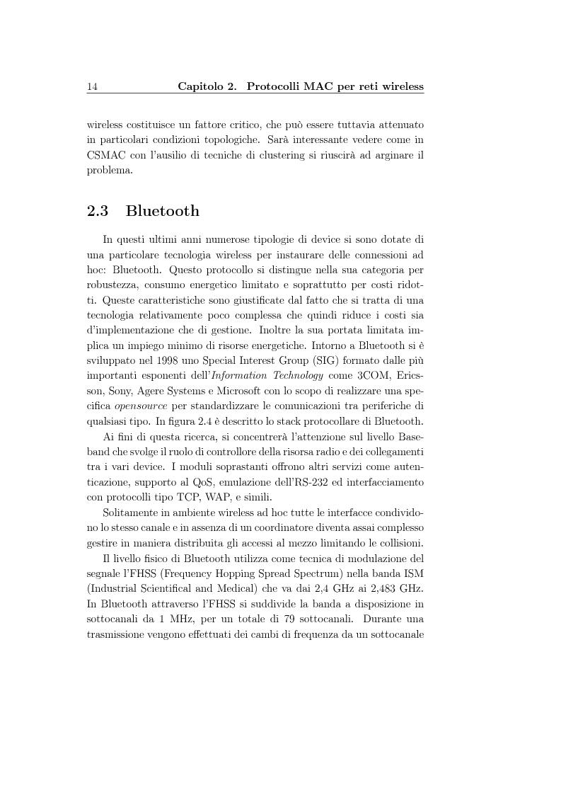 Anteprima della tesi: Un protocollo MAC multicanale per reti wireless ad-hoc, Pagina 12