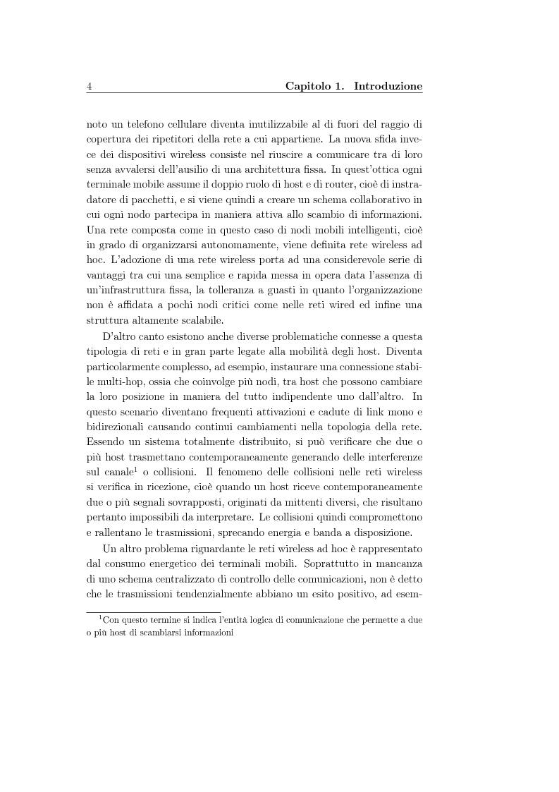 Anteprima della tesi: Un protocollo MAC multicanale per reti wireless ad-hoc, Pagina 2