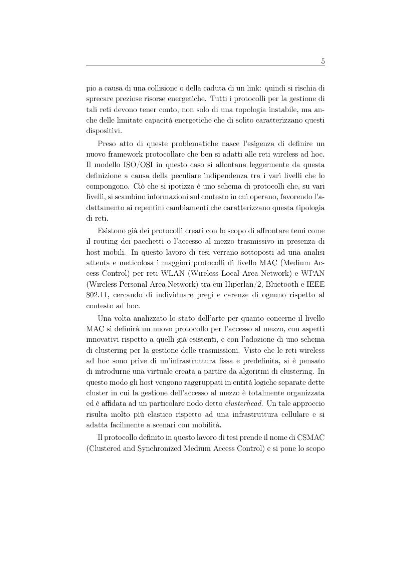 Anteprima della tesi: Un protocollo MAC multicanale per reti wireless ad-hoc, Pagina 3