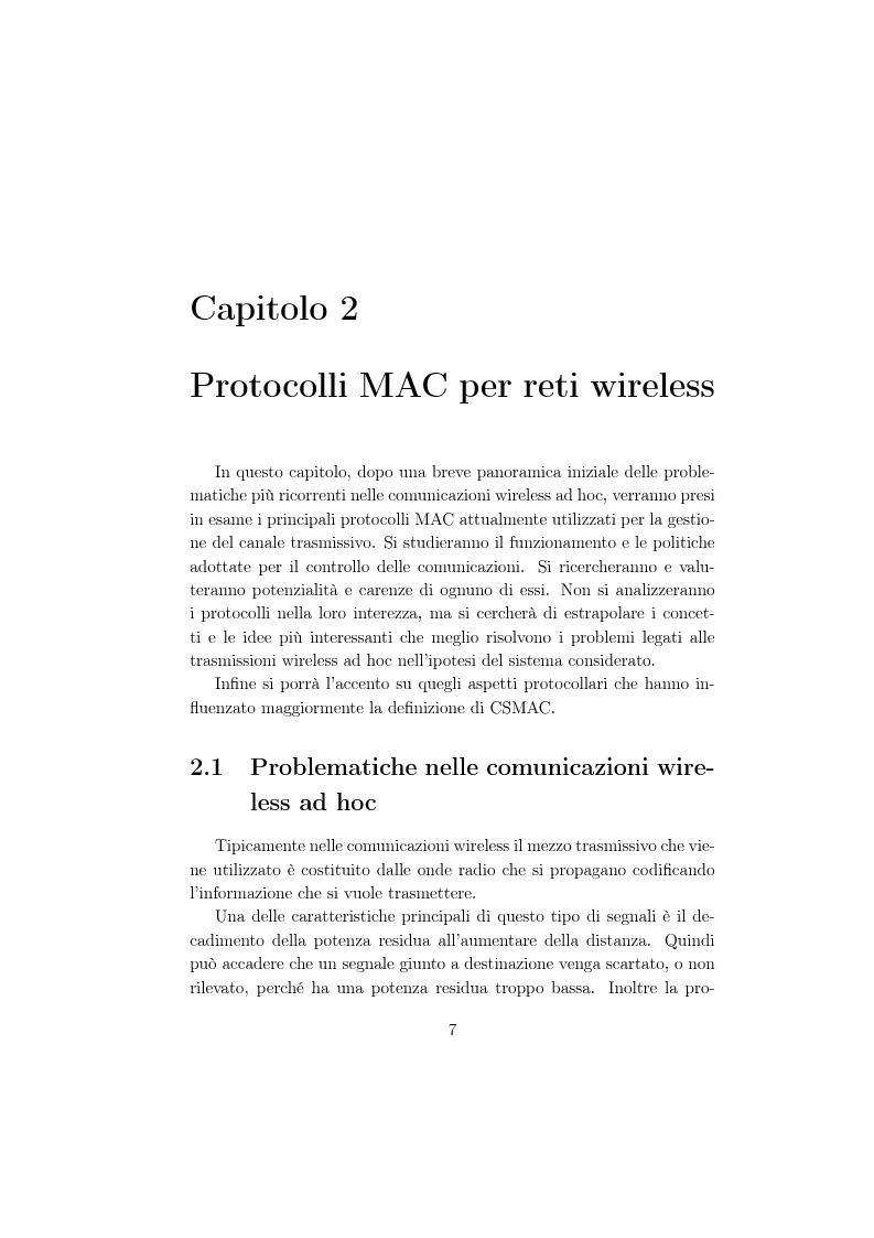 Anteprima della tesi: Un protocollo MAC multicanale per reti wireless ad-hoc, Pagina 5