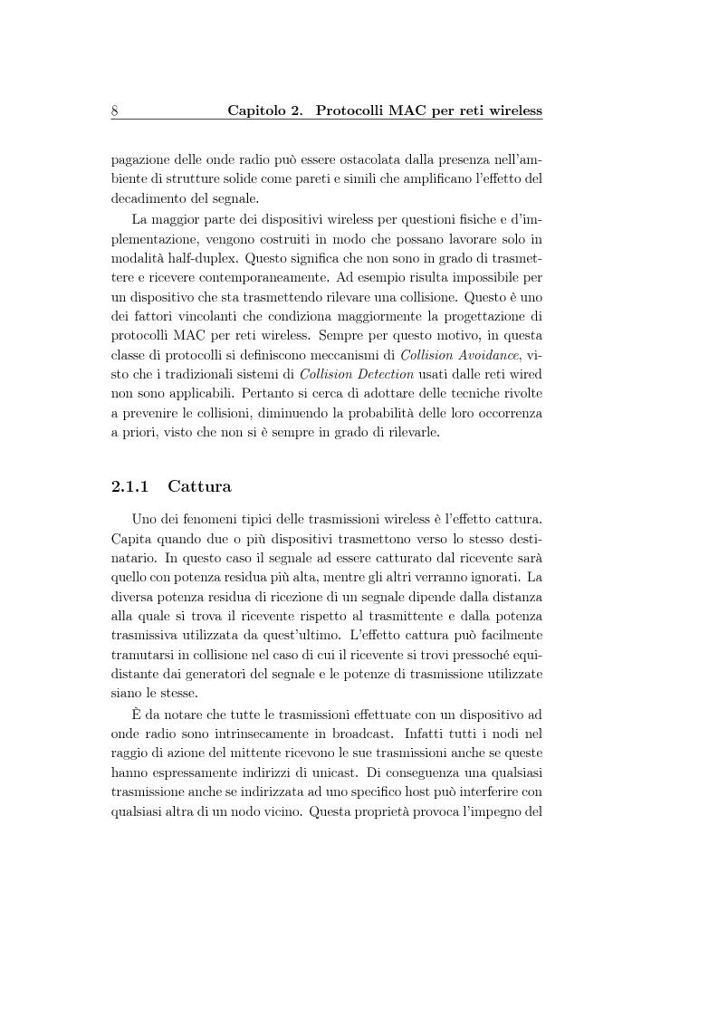 Anteprima della tesi: Un protocollo MAC multicanale per reti wireless ad-hoc, Pagina 6