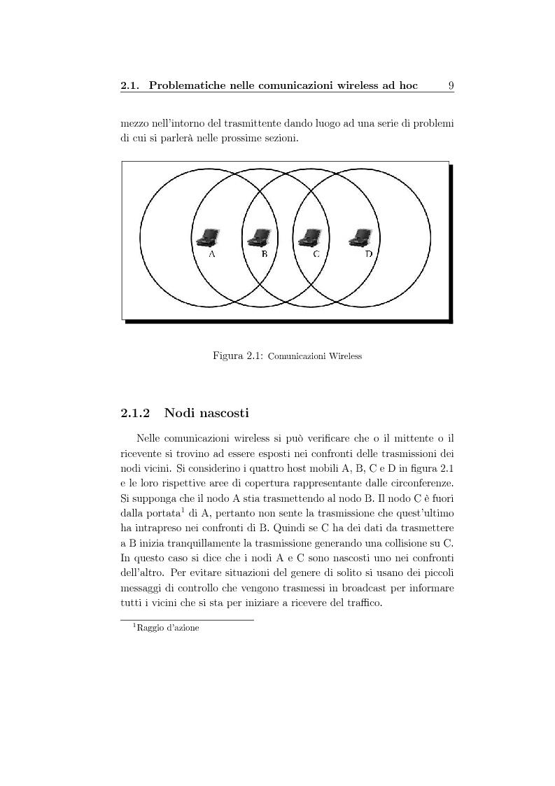 Anteprima della tesi: Un protocollo MAC multicanale per reti wireless ad-hoc, Pagina 7