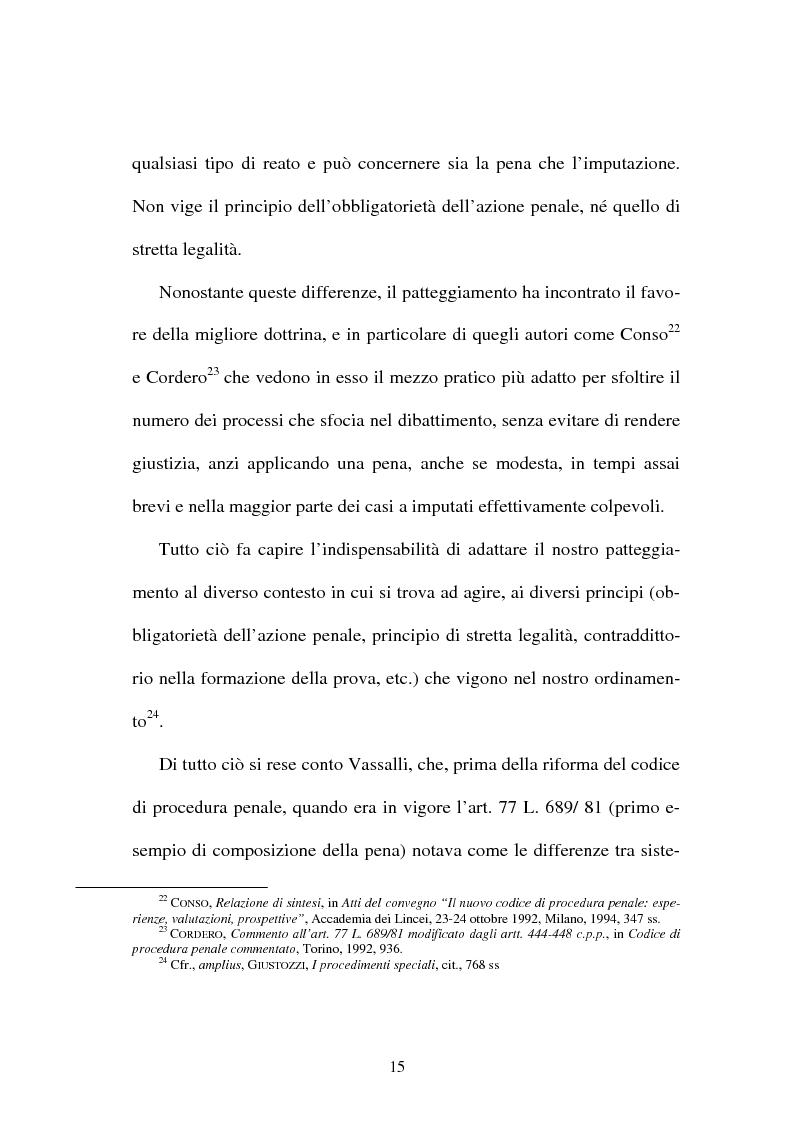 """Anteprima della tesi: Il """"patteggiamento"""" dopo la Legge n. 134 del 2003, Pagina 13"""