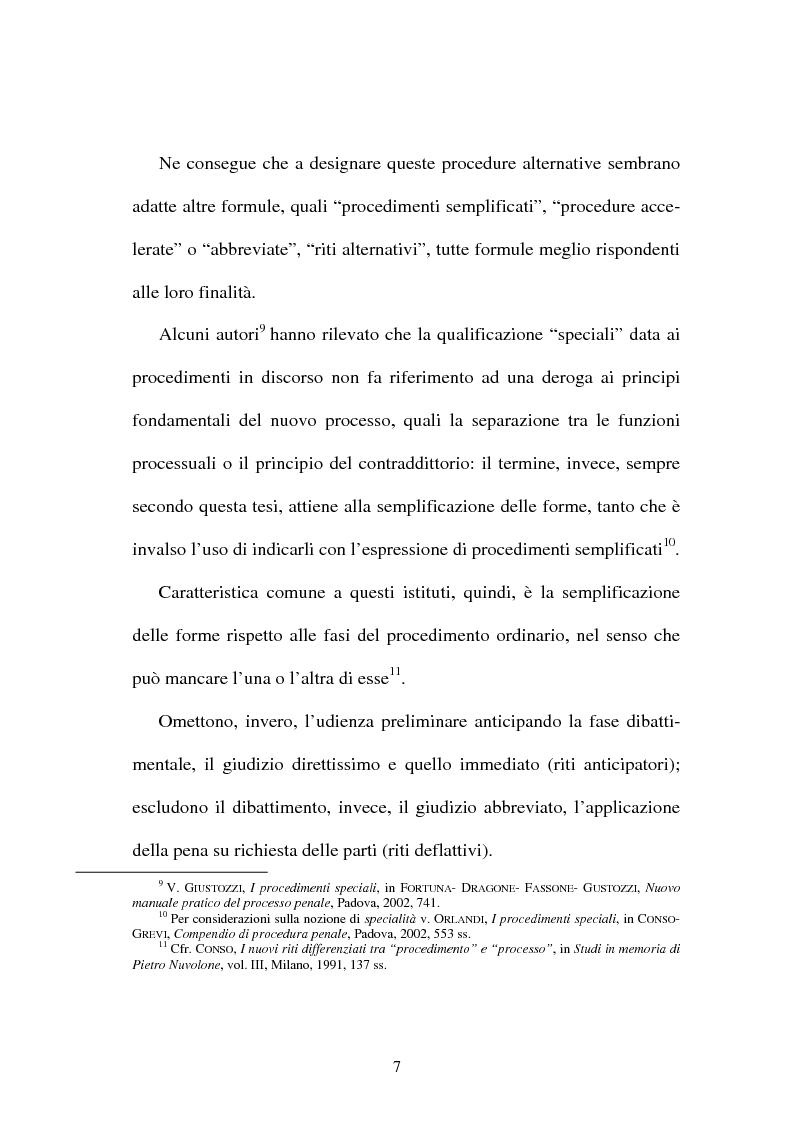 """Anteprima della tesi: Il """"patteggiamento"""" dopo la Legge n. 134 del 2003, Pagina 5"""