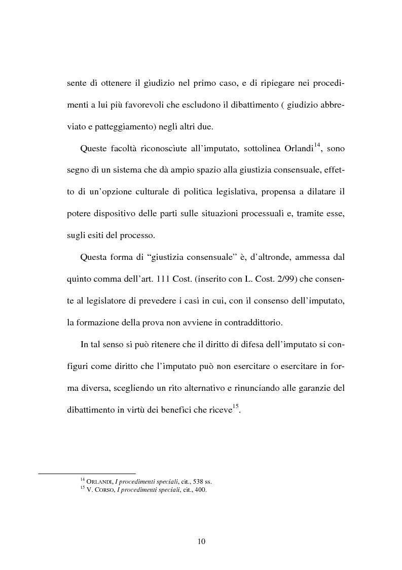 """Anteprima della tesi: Il """"patteggiamento"""" dopo la Legge n. 134 del 2003, Pagina 8"""