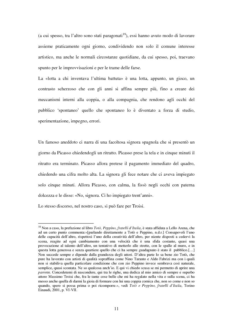 Anteprima della tesi: Il linguaggio teatrale di Massimo Troisi, Pagina 11