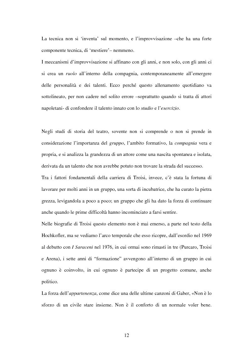 Anteprima della tesi: Il linguaggio teatrale di Massimo Troisi, Pagina 12