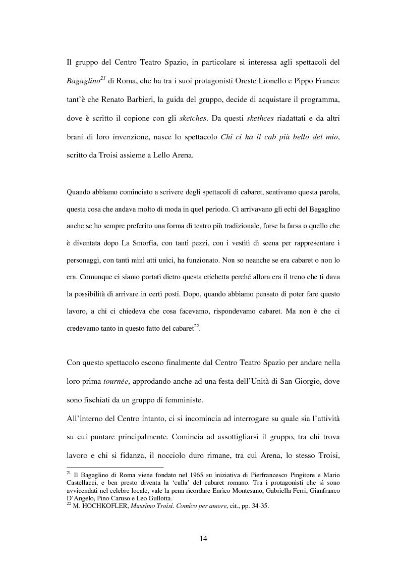 Anteprima della tesi: Il linguaggio teatrale di Massimo Troisi, Pagina 14