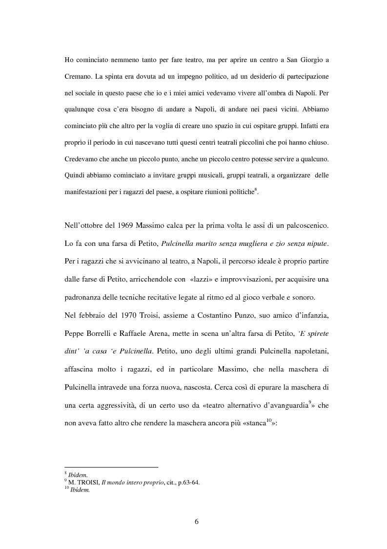 Anteprima della tesi: Il linguaggio teatrale di Massimo Troisi, Pagina 6