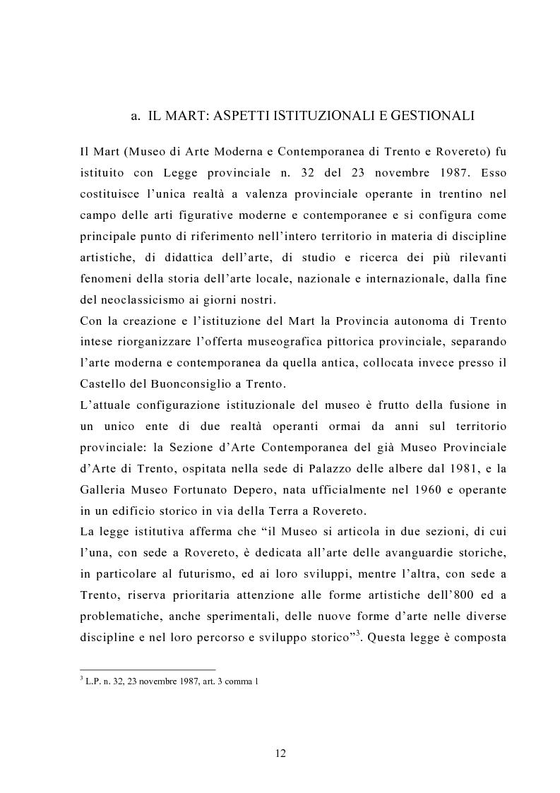 Anteprima della tesi: L'impatto socioculturale del turismo: il Mart di Rovereto, Pagina 12