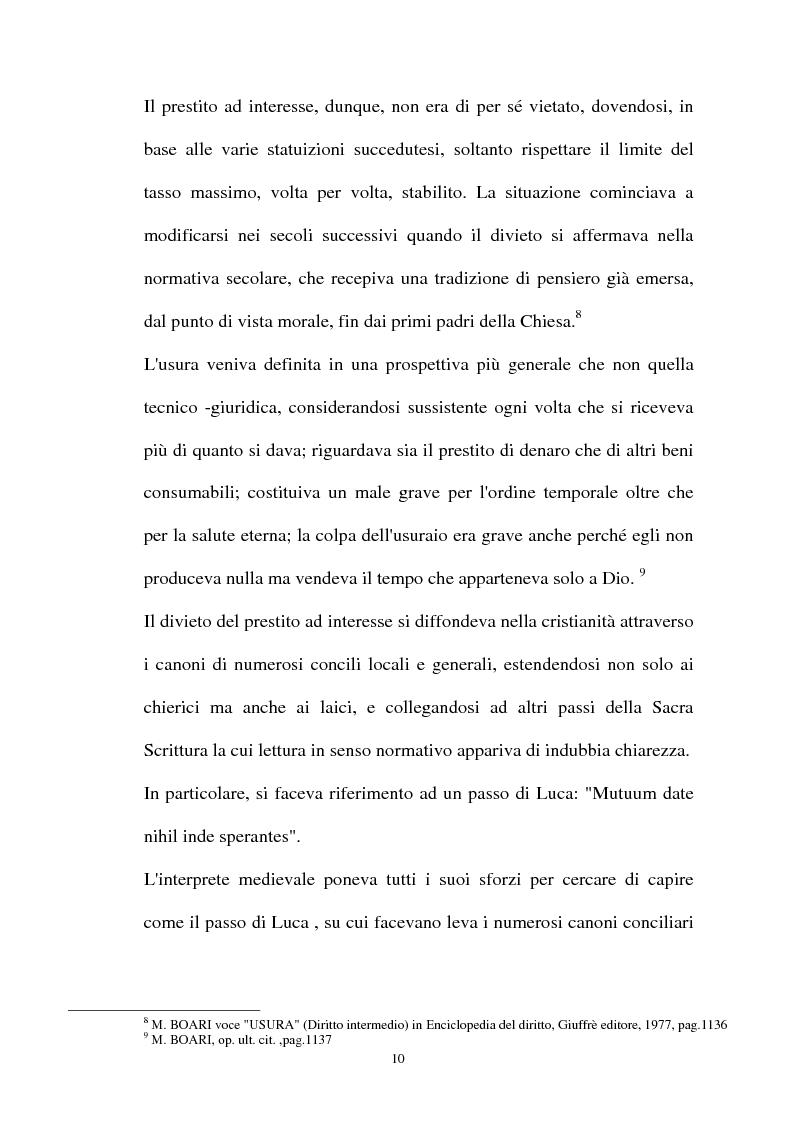 Anteprima della tesi: Il mutuo ad interesse usurario, Pagina 7