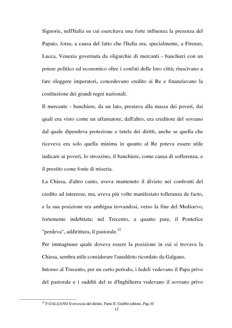 Anteprima della tesi: Il mutuo ad interesse usurario, Pagina 9