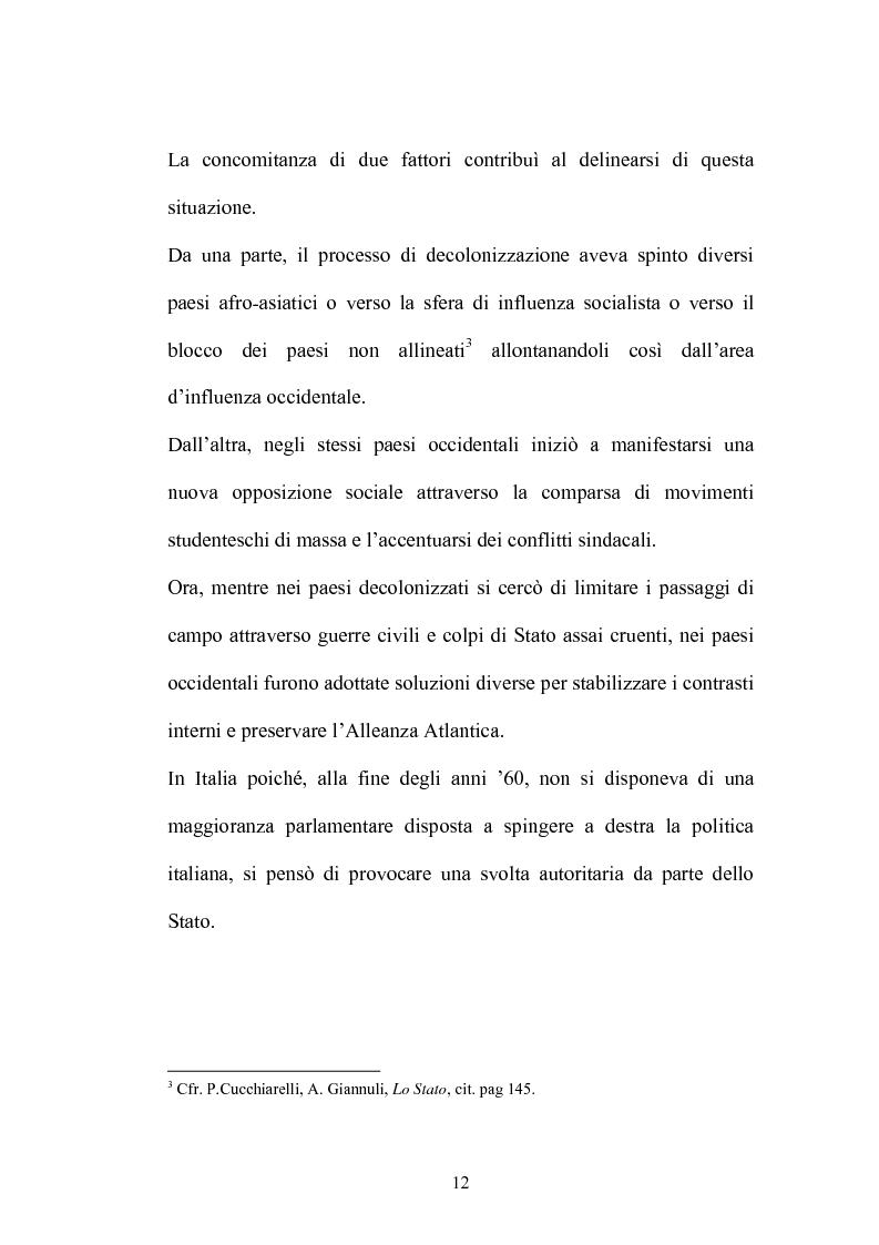 Anteprima della tesi: La Commissione Parlamentare d'inchiesta sul terrorismo in Italia e sulle cause della mancata individuazione dei responsabili delle stragi, Pagina 10