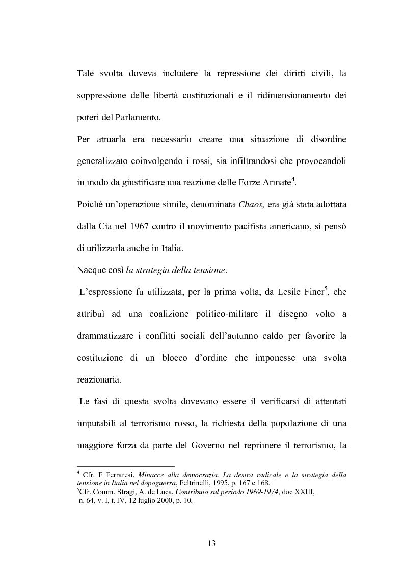 Anteprima della tesi: La Commissione Parlamentare d'inchiesta sul terrorismo in Italia e sulle cause della mancata individuazione dei responsabili delle stragi, Pagina 11