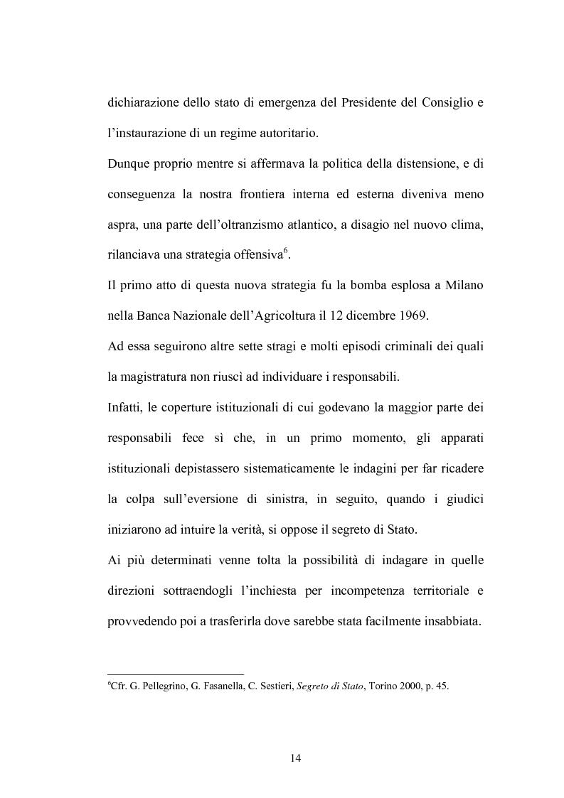 Anteprima della tesi: La Commissione Parlamentare d'inchiesta sul terrorismo in Italia e sulle cause della mancata individuazione dei responsabili delle stragi, Pagina 12