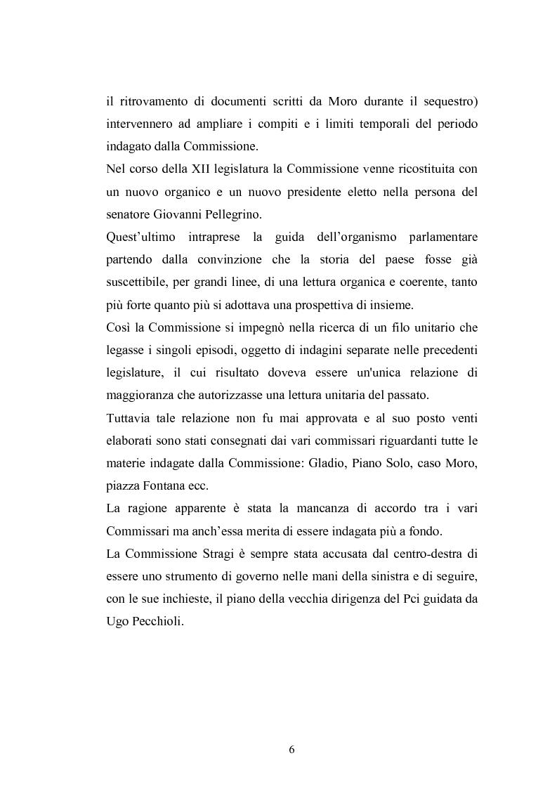 Anteprima della tesi: La Commissione Parlamentare d'inchiesta sul terrorismo in Italia e sulle cause della mancata individuazione dei responsabili delle stragi, Pagina 4
