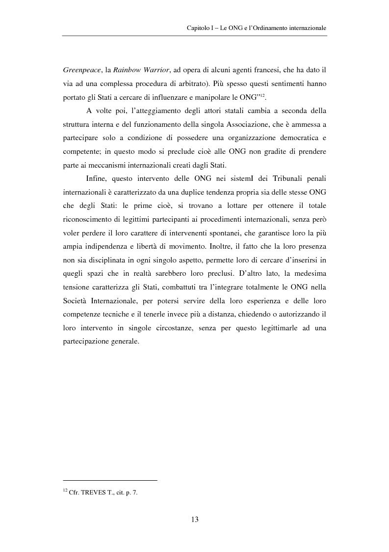Anteprima della tesi: Il ruolo delle Organizzazioni Non Governative nel sistema del Tribunale Penale Internazionale per i crimini commessi nel territorio dell'ex Jugoslavia, Pagina 13