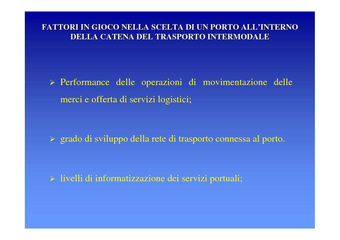 Anteprima della tesi: La logica del sistema portuale per lo sviluppo del trasporto combinato strada-mare in Sicilia, Pagina 18